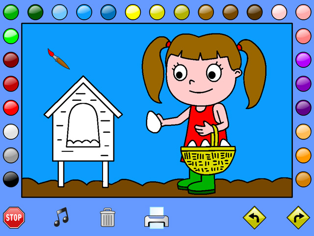 Click to view Leah's Farm Coloring Book 1.0 screenshot
